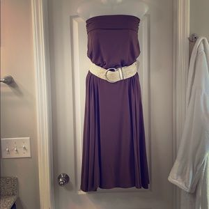 Brown Maxi Skirt/Dress Very Versatile Size Medium